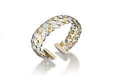 18K on Sterling Hand-Woven Cuff by Gabriel Ofiesh (Gold & Silver Bracelet)