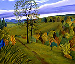 Landscape with Path by Jane Troup (Giclée Print)