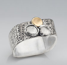 Autumn Petals Ring by Chi Cheng Lee (Gold & Silver Jewelry)