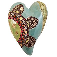Marie's Travels by Laurie Pollpeter Eskenazi (Ceramic Wall Sculpture)