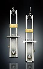 Ladder Earrings by Michele LeVett (Gold, Silver & Stone Earrings)
