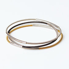 Oval Bangle by Laurette O'Neil (Silver Bracelet)