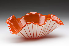 Poppy Bowl by Denise Bohart Brown (Art Glass Bowl)