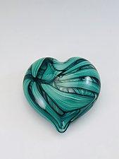 Heart Paperweight by Jacob Pfeifer (Art Glass Paperweight)