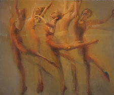 Movement in Five by Cathy Locke (Oil Painting)