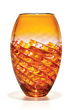 Optic Rib Barrel by Michael Trimpol and Monique LaJeunesse (Art Glass Vase)