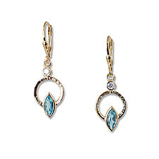 Gold Q Earrings by Suzanne Q Evon (Gold & Stone Earrings)