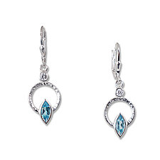 Silver Q Earrings by Suzanne Q Evon (Silver & Stone Earrings)