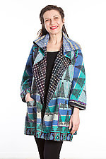 Back Tuck Jacket #3 by Mieko Mintz  (One Size (0-8), Cotton Jacket)