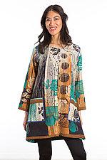 Crew Neck Pocket Jacket #4 by Mieko Mintz  (One Size (2-10), Cotton Jacket)