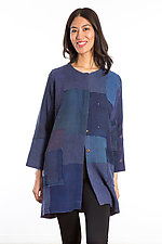Crew Neck Pocket Jacket #6 by Mieko Mintz  (One Size (2-10), Cotton Jacket)