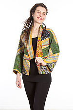 Dolman Short Jacket #2 by Mieko Mintz  (Size Medium (8-12), Cotton Jacket)