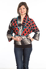 Dolman Short Jacket #3 by Mieko Mintz  (Size Small (2-6), Cotton Jacket)