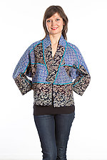 Dolman Short Jacket #4 by Mieko Mintz  (Size Medium (8-12), Cotton Jacket)