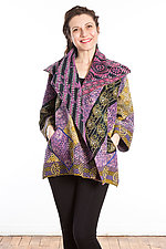 Flare Jacket #8 by Mieko Mintz  (One Size (2-14), Cotton Jacket)