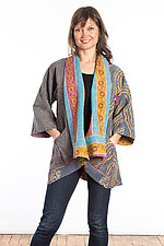 Kimono Jacket #1 by Mieko Mintz  (One Size (2-16), Cotton Jacket)