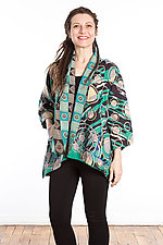 Kimono Jacket #3 by Mieko Mintz  (One Size (2-16), Cotton Jacket)