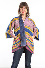 Kimono Jacket #4 by Mieko Mintz  (One Size (2-16), Cotton Jacket)