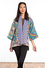 Kimono Jacket #6 by Mieko Mintz  (One Size (2-16), Cotton Jacket)