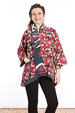 Kimono Jacket #7 by Mieko Mintz  (One Size (2-16), Cotton Jacket)