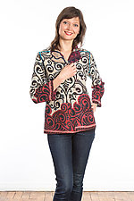Short Jacket #1 by Mieko Mintz  (Size Small (2-4), Cotton Jacket)
