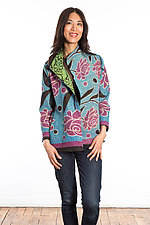 Short Jacket #5 by Mieko Mintz  (Size Medium (6-8), Cotton Jacket)