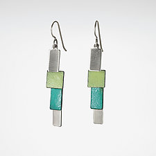 Bendy 2.0 Earrings by Lou Ann Townsend and Mary Filapek (Silver & Copper Earrings)
