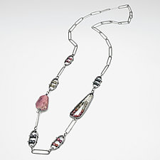 Mixed Ruby Necklace by Erica Stankwytch Bailey (Silver & Stone Necklace)