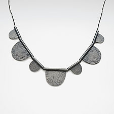 Carved Half-Circles Necklace by Heather Guidero (Silver Necklace)
