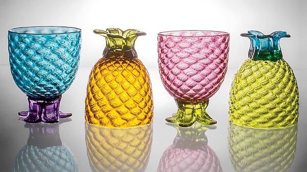 Set of Four of Small Pineapple Glasses