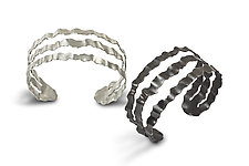 Flutter Series Triple Band Cuff by Debra Adelson (Jewelry Bracelets)