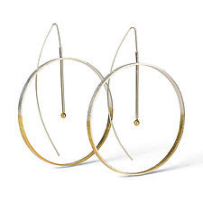 Annulus Earrings by Laurette O'Neil (Silver Earrings)