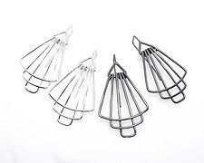 Deco Tier Mini Earrings in Silver by Jera Lodge (Silver Earrings)