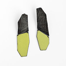 Mezzo Enamel Wedge Earrings by Jane Pellicciotto (Silver & Enamel Earrings)