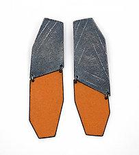 Mezzo Enamel Wedge Earrings by Jane Pellicciotto (Silver & Enamel Earrings)