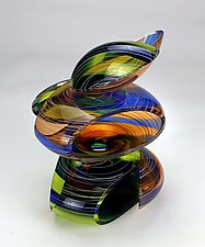 Transparent Remnant of the Jungle by Justin Hunting (Art Glass Sculpture)