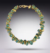 Signature Mini Apatite Bracelet by Lori Kaplan (Gold & Stone Bracelet)