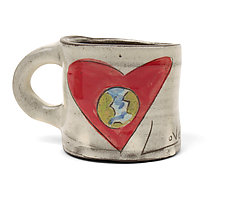 Love Rules Mug by Noelle VanHendrick and Eric Hendrick (Ceramic Mug)