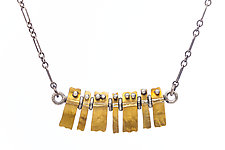 Tiny Tiles Necklace by Sher Novak (Gold & Silver Necklace)