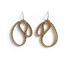 Margaux Zipper Earrings by Kate Cusack (Gold & Silver Earrings)