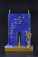 Oceanic Portal by Georgia Pozycinski and Joseph Pozycinski (Art Glass & Bronze Sculpture)