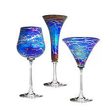 Spider Wine Goblet by Minh Martin (Art Glass Drinkware)