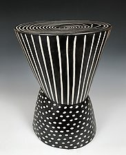 Waisted Table I by Larry Halvorsen (Ceramic Side Table)