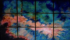 Fourth Star in Twelve Panels by Cynthia Miller (Art Glass Wall Sculpture)