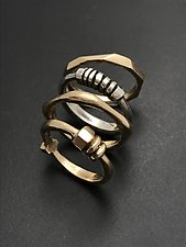 Architectural Stacking Ring by Tavia Brown (Silver Ring)