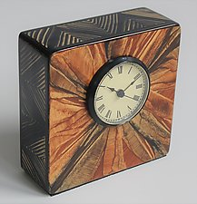 Italia Table Clock by Ingela Noren and Daniel  Grant (Wood Clock)