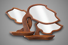 Silhouette Mirror by Aaron Laux (Wood Mirror)