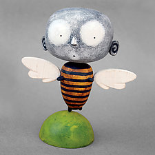 Ziro MoonBee Baby by Bruce Chapin (Wood Sculpture)