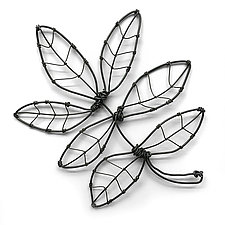 Wire Foliage VI by Barbara Gilhooly (Metal Wall Sculpture)