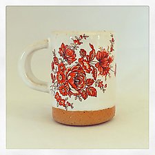 Red Bohemian Espresso Cup by Chris Hudson and Shelly  Hail (Ceramic Mug)